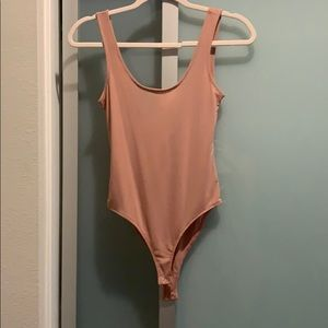 Blush pink mesh body suit -non see through